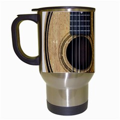 Old And Worn Acoustic Guitars Yin Yang Travel Mugs (white) by JeffBartels