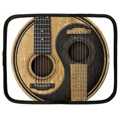 Old And Worn Acoustic Guitars Yin Yang Netbook Case (xl)  by JeffBartels