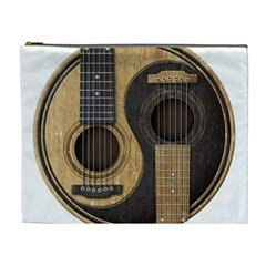 Old And Worn Acoustic Guitars Yin Yang Cosmetic Bag (xl) by JeffBartels