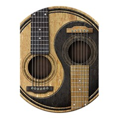 Old And Worn Acoustic Guitars Yin Yang 5 5  X 8 5  Notebooks by JeffBartels