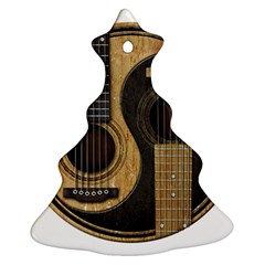 Old And Worn Acoustic Guitars Yin Yang Christmas Tree Ornament (two Sides) by JeffBartels
