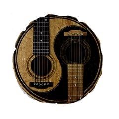 Old And Worn Acoustic Guitars Yin Yang Standard 15  Premium Round Cushions by JeffBartels