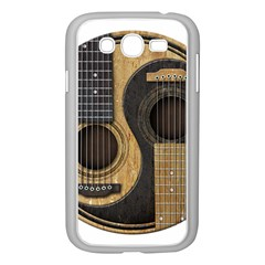 Old And Worn Acoustic Guitars Yin Yang Samsung Galaxy Grand Duos I9082 Case (white) by JeffBartels