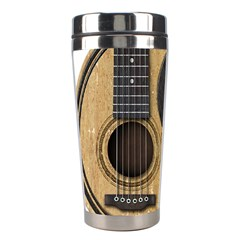 Old And Worn Acoustic Guitars Yin Yang Stainless Steel Travel Tumblers by JeffBartels