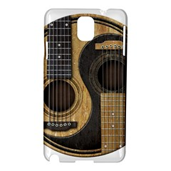 Old And Worn Acoustic Guitars Yin Yang Samsung Galaxy Note 3 N9005 Hardshell Case by JeffBartels