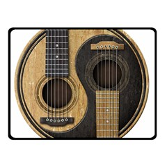 Old And Worn Acoustic Guitars Yin Yang Double Sided Fleece Blanket (small)  by JeffBartels