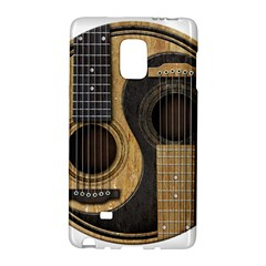 Old And Worn Acoustic Guitars Yin Yang Galaxy Note Edge by JeffBartels