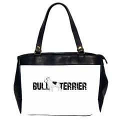 Bull Terrier  Office Handbags (2 Sides)  by Valentinaart