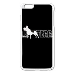 Bull Terrier  Apple Iphone 6 Plus/6s Plus Enamel White Case by Valentinaart