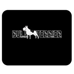 Bull Terrier  Double Sided Flano Blanket (medium)  by Valentinaart