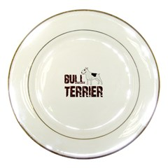 Bull Terrier  Porcelain Plates by Valentinaart