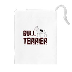 Bull Terrier  Drawstring Pouches (extra Large) by Valentinaart