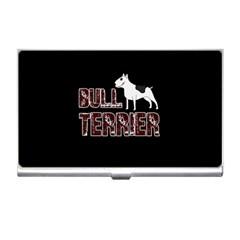 Bull Terrier  Business Card Holders by Valentinaart