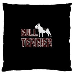 Bull Terrier  Large Cushion Case (one Side) by Valentinaart
