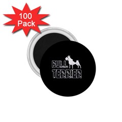 Bull Terrier  1 75  Magnets (100 Pack)  by Valentinaart