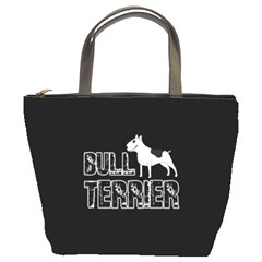 Bull Terrier  Bucket Bags by Valentinaart