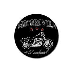 Motorcycle Old School Magnet 3  (round) by Valentinaart