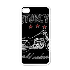 Motorcycle Old School Apple Iphone 4 Case (white) by Valentinaart