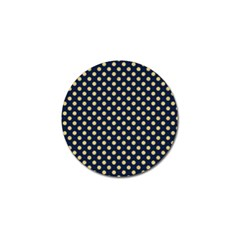 Navy/gold Polka Dots Golf Ball Marker (4 Pack) by Colorfulart23