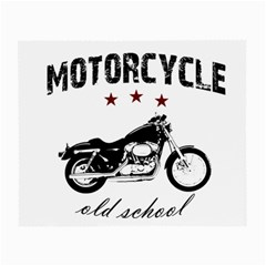 Motorcycle Old School Small Glasses Cloth by Valentinaart