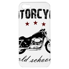 Motorcycle Old School Apple Iphone 5 Hardshell Case by Valentinaart