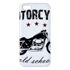 Motorcycle Old School Iphone 5s/ Se Premium Hardshell Case by Valentinaart
