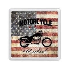 Motorcycle Old School Memory Card Reader (square)  by Valentinaart