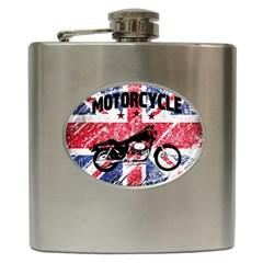 Motorcycle Old School Hip Flask (6 Oz) by Valentinaart
