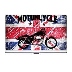 Motorcycle Old School Business Card Holders by Valentinaart
