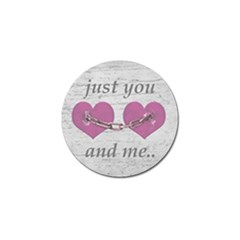 Shabby Chich Love Concept Poster Golf Ball Marker by dflcprints