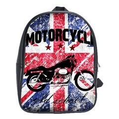 Motorcycle Old School School Bags (xl)  by Valentinaart