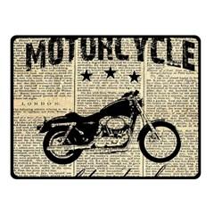 Motorcycle Old School Fleece Blanket (small) by Valentinaart