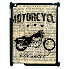 Motorcycle Old School Apple Ipad 2 Case (black) by Valentinaart