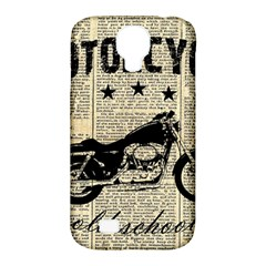 Motorcycle Old School Samsung Galaxy S4 Classic Hardshell Case (pc+silicone) by Valentinaart