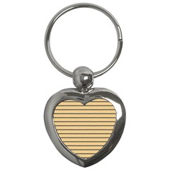 Colored Zig Zag Key Chains (heart)  by Colorfulart23