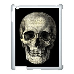 Newspaper Skull Apple Ipad 3/4 Case (white) by Valentinaart