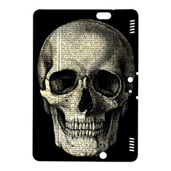 Newspaper Skull Kindle Fire Hdx 8 9  Hardshell Case by Valentinaart
