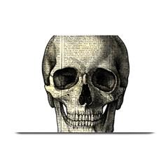 Newspaper Skull Plate Mats by Valentinaart