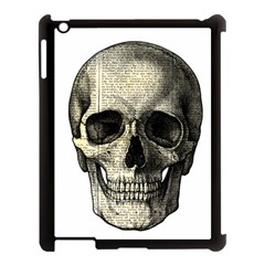Newspaper Skull Apple Ipad 3/4 Case (black) by Valentinaart