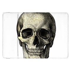 Newspaper Skull Samsung Galaxy Tab 8 9  P7300 Flip Case by Valentinaart