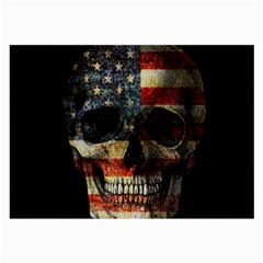 American Flag Skull Large Glasses Cloth by Valentinaart