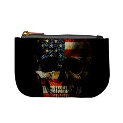 American Flag Skull Mini Coin Purses by Valentinaart