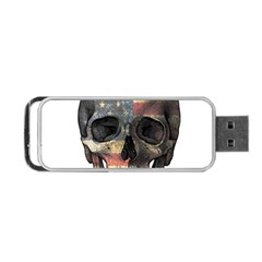 American Flag Skull Portable Usb Flash (two Sides) by Valentinaart