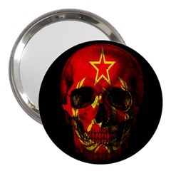 Russian Flag Skull 3  Handbag Mirrors by Valentinaart
