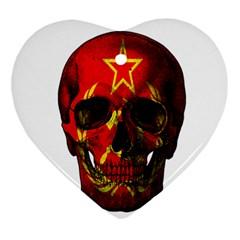 Russian Flag Skull Ornament (heart) by Valentinaart