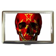 Russian Flag Skull Cigarette Money Cases by Valentinaart