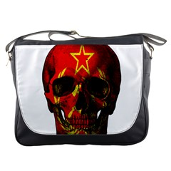 Russian Flag Skull Messenger Bags by Valentinaart