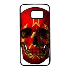 Russian Flag Skull Samsung Galaxy S7 Black Seamless Case by Valentinaart