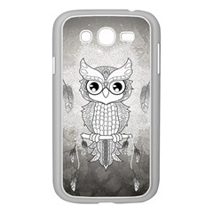 Wonderful Owl, Mandala Design Samsung Galaxy Grand Duos I9082 Case (white) by FantasyWorld7