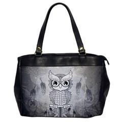 Wonderful Owl, Mandala Design Office Handbags by FantasyWorld7